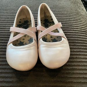 Girls pink ballet flat Livie and Luca shoes